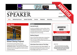 Advertise Your Business on The Temiskaming Speaker Website