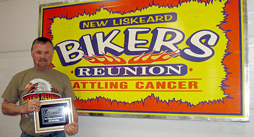 Bikers Reunion Barry Phippen receives fundraising award