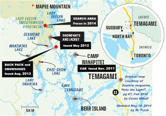 Ontario's Northern Newspaper - The Temiskaming Speaker - 2014 Map of Items Found