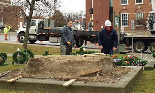 Ontario Newspaper - The Temiskaming Speaker - Haileybury cenotaph getting a facelift