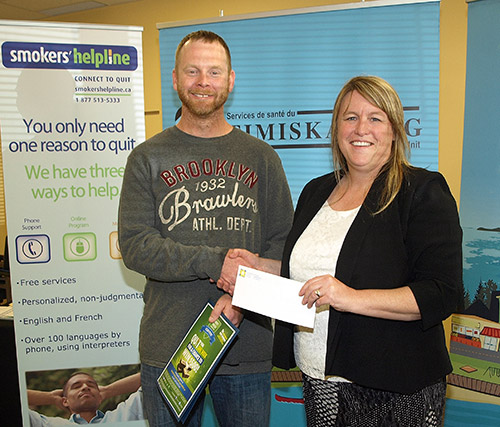 Northern Ontario News - The Temiskaming Speaker - Haileybury man accepts smoke-free challenge and $500