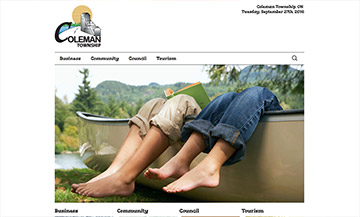 The Temiskaming Speaker - Website Design - Coleman Township