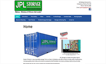 The Temiskaming Speaker - Website Design - JPL Storage