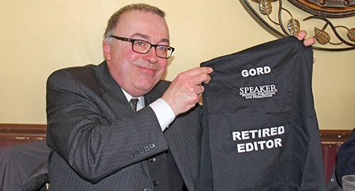 The Temiskaming Speaker - News - Goodbye and best wishes to editor Gordon Brock