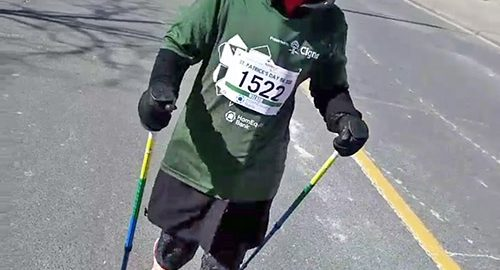 The Speaker - Newspaper - New Liskeard amputee steps out at St. Patrick's Day run/walk