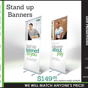 We Do That - Stand up Promotional Banners