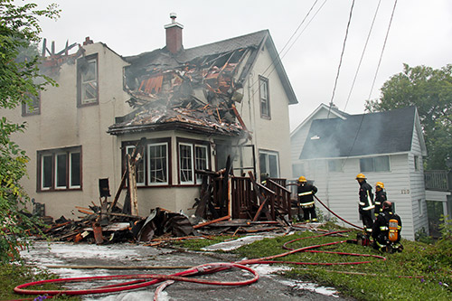 Northern Ontario News - The Temiskaming Speaker - New Liskeard house gutted by early morning fire