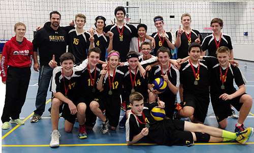 Northern Ontario News - The Temiskaming Speaker - Junior Saints win 2015 volleyball title