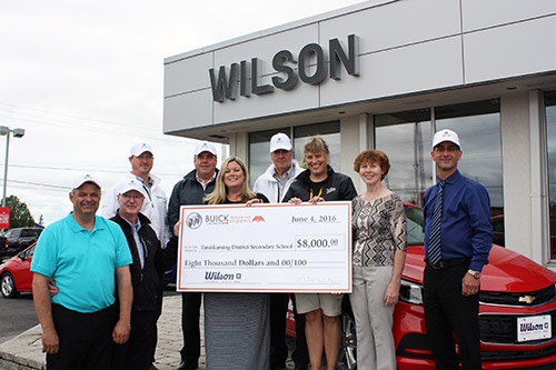 Timiskaming District Secondary School (TDSS) recently teamed up with Wilson Chevrolet Buick GMC